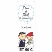 Eticheta pentru sticla ET 60 C
