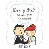 Eticheta pentru sticla ET 60 F