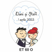 Eticheta pentru sticla ET 60 O