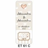 Eticheta pentru sticla ET 61 C