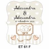 Eticheta pentru sticla ET 61 F