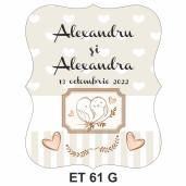 Eticheta pentru sticla ET 61 G