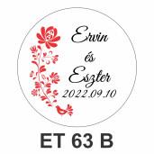 Eticheta mica ET 63 B