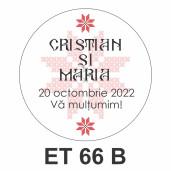 Eticheta mica ET 66 B