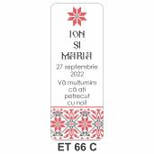 Eticheta pentru sticla ET 66 C