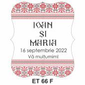 Eticheta pentru sticla ET 66 F
