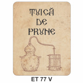 Eticheta pentru sticla ET 77 V