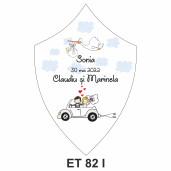 Eticheta pentru sticla ET 82 I