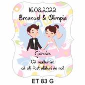 Eticheta pentru sticla ET 83 G