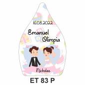 Eticheta pentru sticla ET 83 P