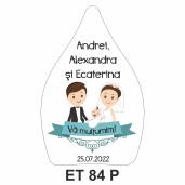 Eticheta pentru sticla ET 84 P