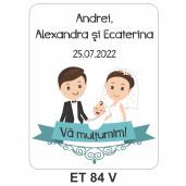 Eticheta pentru sticla ET 84 V