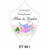 Eticheta pentru sticla ET 86 I