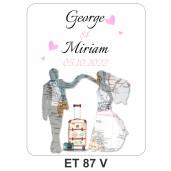 Eticheta pentru sticla ET 87 V