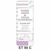 Eticheta pentru sticla ET 90 C