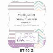 Eticheta pentru sticla ET 90 G