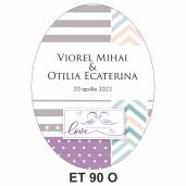 Eticheta pentru sticla ET 90 O