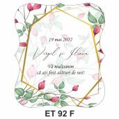 Eticheta pentru sticla ET 92 F