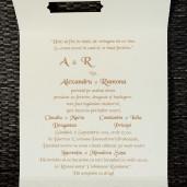 Invitatie de nunta 1124 crem cu perluta Polen
