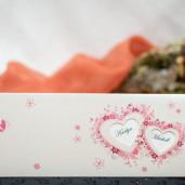 Invitatie de nunta cu fluturi si inimioare 131