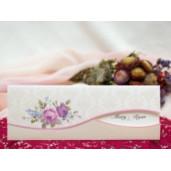 Invitatie de nunta baroc cu flori 134