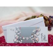 Invitatie de nunta florala cu miri 139
