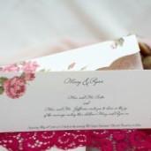 Invitatie de nunta eleganta florala 160
