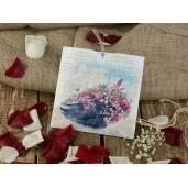 Invitatie vintage cu tema florala 16213 ARMONI