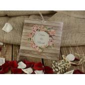Invitatie rustica cu tema florala 16223 ARMONI