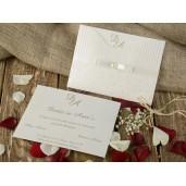 Invitatie cu fundita si perla 16246 ARMONI