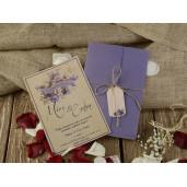 Invitatie florala cu snur 16262 ARMONI