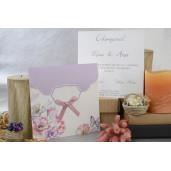 Invitatie cu tema florala si fundita 17016 ARMONI