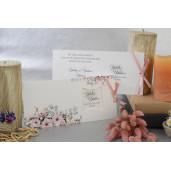 Invitatie cu tema florala si fundita 17032 ARMONI