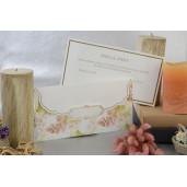 Invitatie eleganta cu tema florala 17041 ARMONI