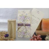 Invitatie florala cu perla 17053 ARMONI
