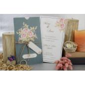 Invitatie florala cu fundita 17071 ARMONI