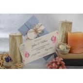 Invitatie florala cu fundita 17075 ARMONI