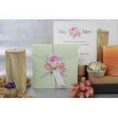 Invitatie florala cu fundita 17098 ARMONI