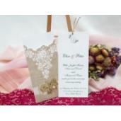 Invitatie de nunta cu model floral rustic 172