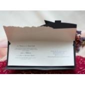 Invitatie de nunta eleganta clasica 190