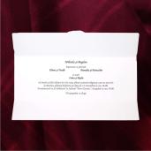 Invitatie de nunta romantica cu miri pe banca 2135 TBZ