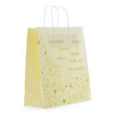 Punga nunta crem model floral auriu PN 10027