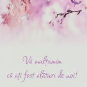 Punga 1 Cadouri Nunta PREMIUM Model Floral Mov cu Miri PT 18