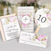 Plic de bani cu trandafiri roz 5740 CLARA