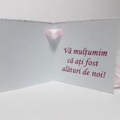 Eticheta - Card dublu perforat alb 00