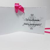 Eticheta - Card dublu perforat alb 15