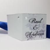Eticheta - Card dublu perforat alb 40