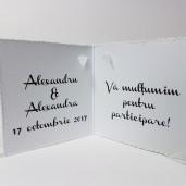 Eticheta - Card dublu perforat alb 61