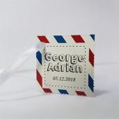 Eticheta - Card dublu perforat alb 74