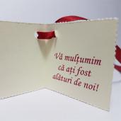 Eticheta - Card dublu perforat crem 00